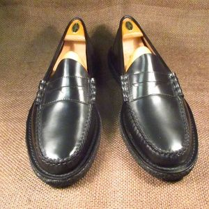Bass Larson Black Penny Loafers Crepe sole 9.5